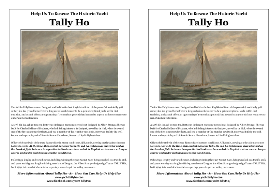 Tally Ho Poster A5 2-up